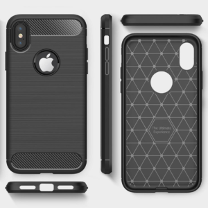 Carbon Shield iPhone X TPU telefontok